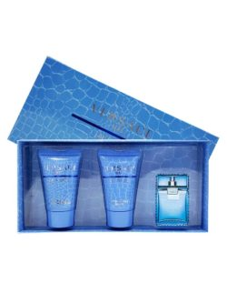 Eau Fraiche Miniature Gift Set for Men (edT 5ml + Perfumed Bath and Shower Gel 25ml + After Shave Balm 25ml) by Versace
