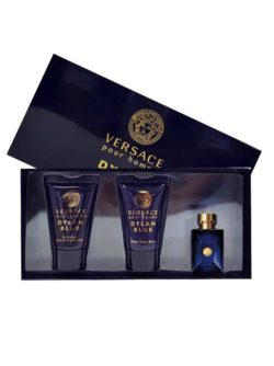 Dylan Blue Miniature Gift Set for Men (edT 5ml + Hair and Body Shampoo 25ml + After Shave Balm 25ml) by Versace