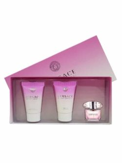 Bright Crystal Miniature Gift Set for Women (edT 5ml + Perfumed Bath and Shower Gel 25ml + Perfumed Body Lotion 25ml) by Versace