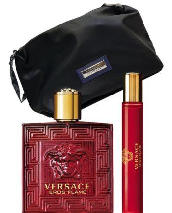 Eros Flame Gift Set for Men (edP 100ml + Trousse + edP 10ml Travel Spray) by Versace