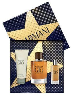 Acqua di Gio Absolu Gift Set for Men (edP 75ml + edP 15ml + All Over Body Shampoo 75ml) by Giorgio Armani