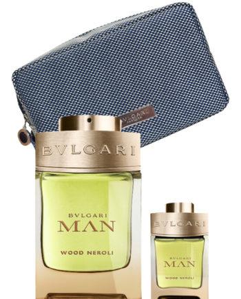 Bvlgari Man Wood Neroli Gift Set for Men (edP 100ml + edP 15ml + Pouch) by Bvlgari