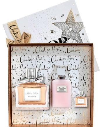 Miss Dior Gift Set for Women (edP 100ml + edP 5ml + Moisturizing Body Milk 75ml) by Christian Dior