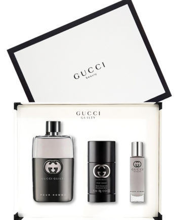 Gucci Guilty Pour Homme Gift Set for Men (edT 90ml + Deodorant Stick 75ml + edT Travel Spray 15ml) by Gucci