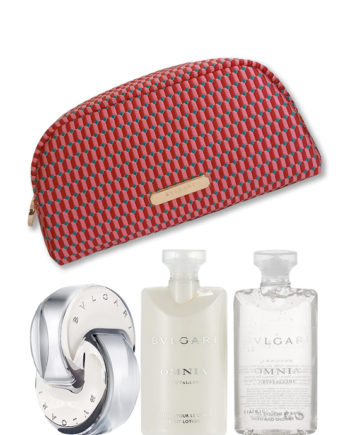 Omnia Crystalline Gift Set for Women (edP 65ml + Body Lotion 75ml + Bath and Shower Gel 75ml + Beauty Pouch) by Bvlgari