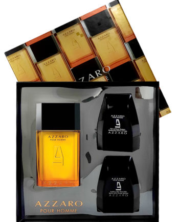 Azzaro pour Homme Gift Set for Men (edT 100ml + Soothing After Shave Balm 75ml + Hair and Body Shampoo 75ml) by Azzaro