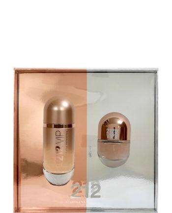212 VIP Rose Gift Set for Women (edP 80ml + NewYork Pill edP 20ml) by Carolina Herrera
