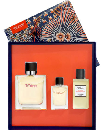 Terre D'Hermes Gift Set for Men (Parfum Pure Perfume 75ml + Parfum 12.5ml + After Shave Lotion 40ml) by Hermes