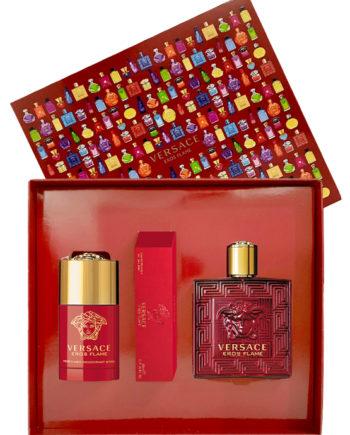 Eros Flame Gift Set for Men (edP 100ml + Travel Spray edP 10ml + Perfumed Deodorant Stick 75ml) by Versace