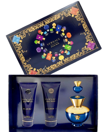 Dylan Blue Gift Set for Women (edP 100ml + edP 5ml + Sublime Body Lotion 100ml + Sublime Bath and Shower Gel 100ml) by Versace
