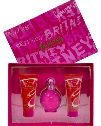 Fantasy Gift Set for Women (edP 100ml + Caught in a Spell Shower Gel 100ml + Work Your Magic Body Souffle 100ml) by Britney Spears